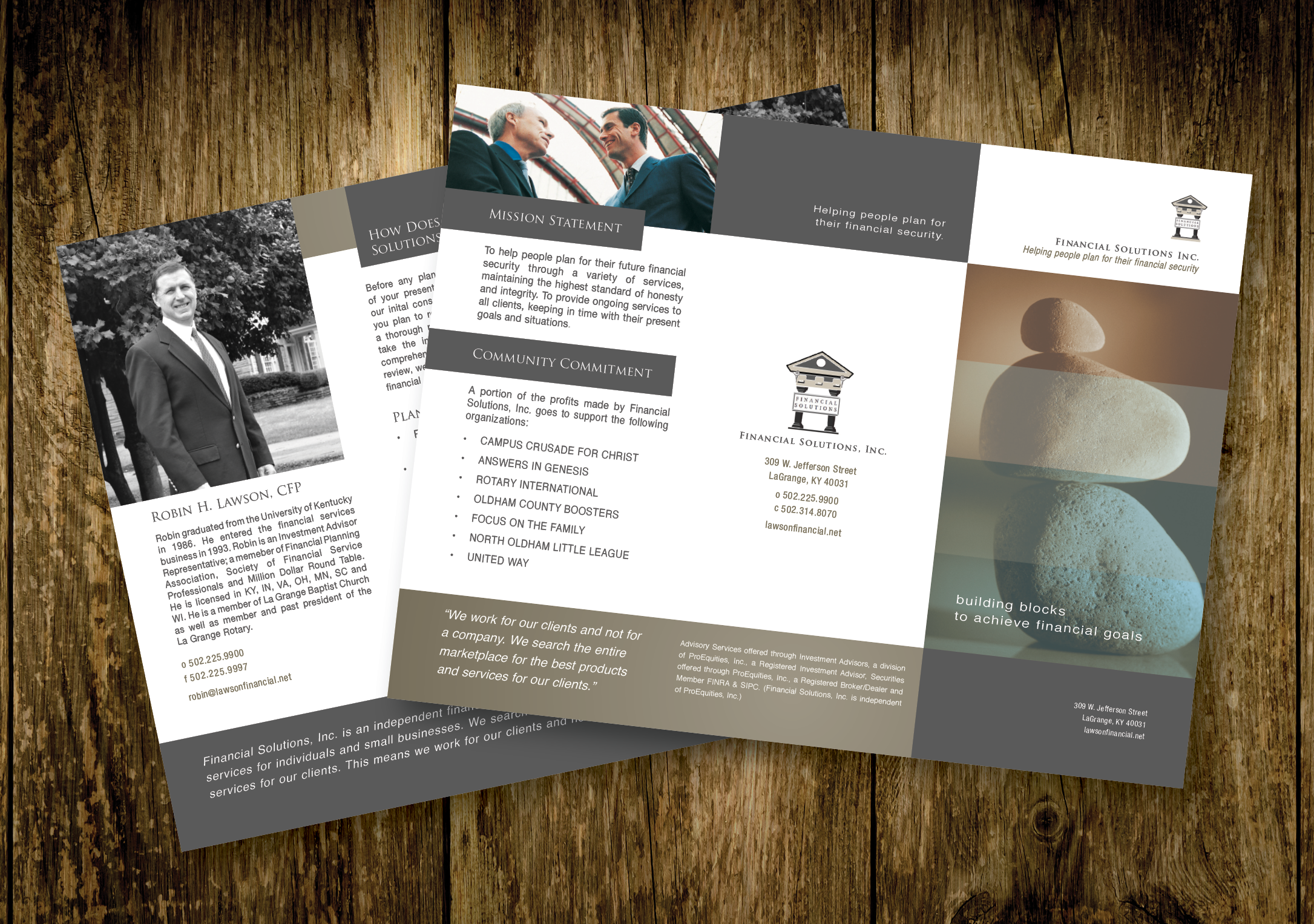 Financial Solutions Trifold Brochure