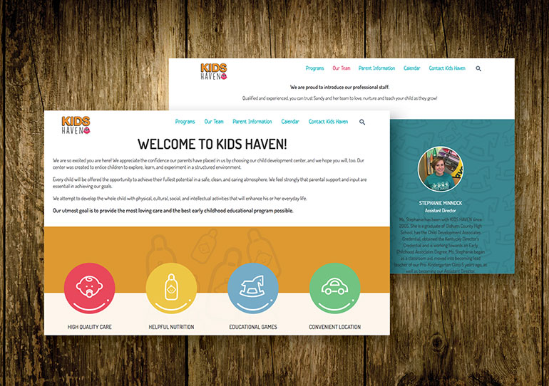 Kids Haven Website