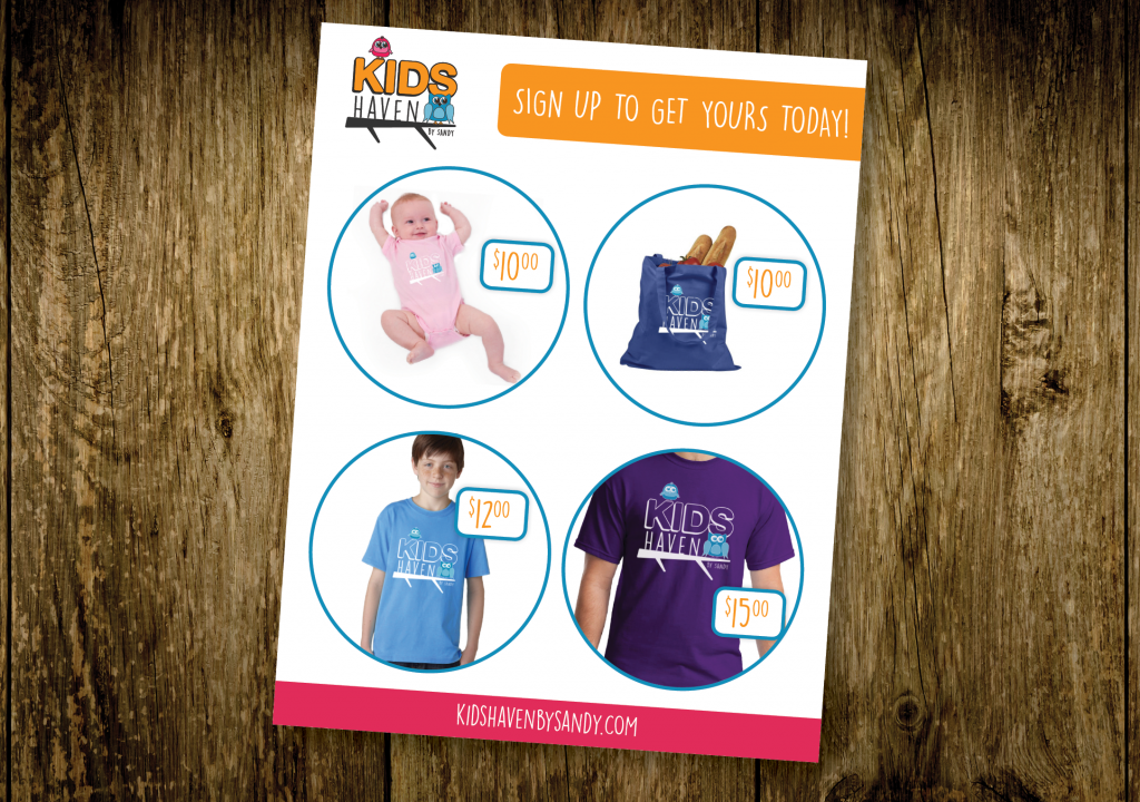Kids Haven Promotional Items