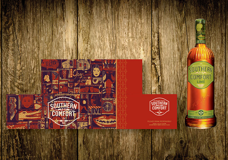Southern Comfort Packaging