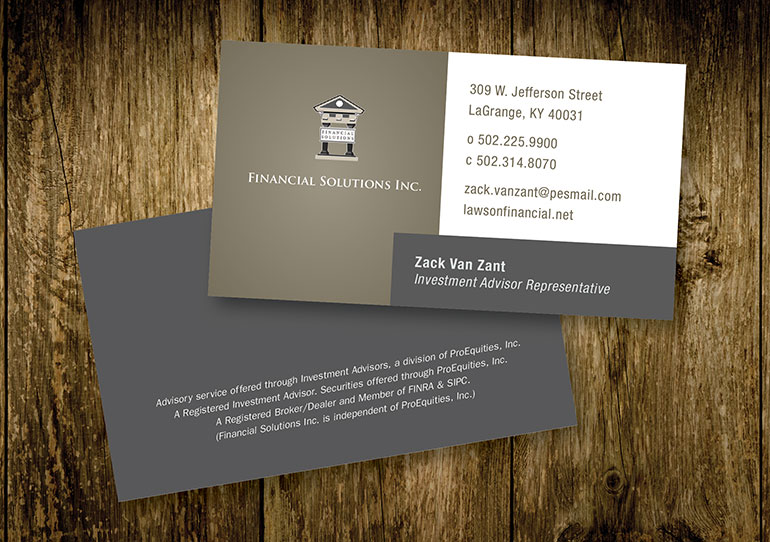 Financial Solutions Business Card